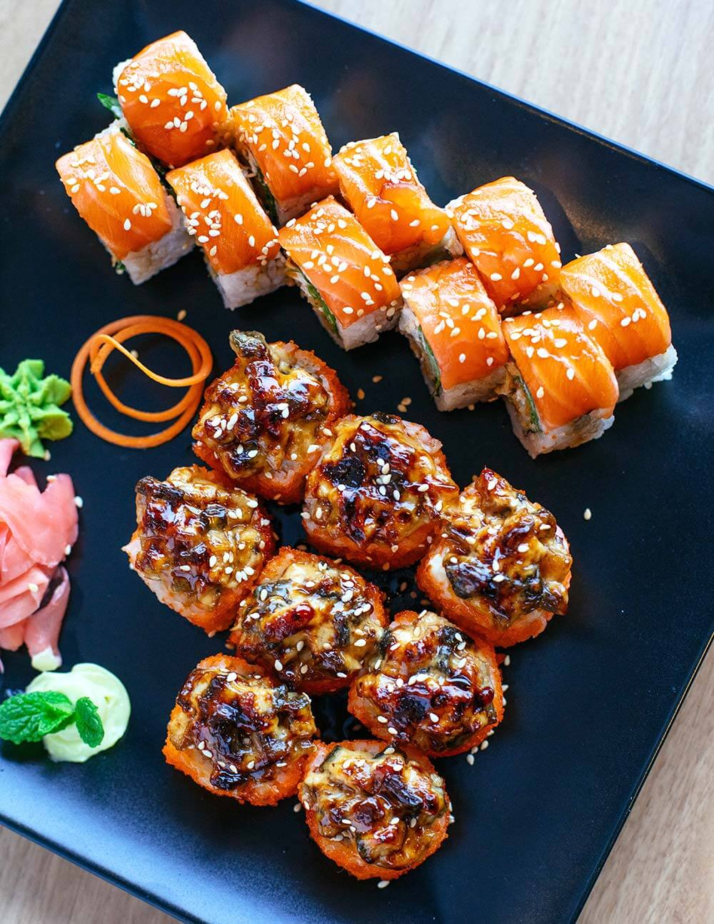 Assorted amazing japanese cuisine-healthy food options eat savvy